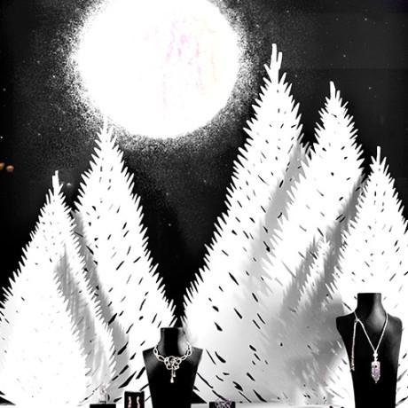 Vitrine Noël «Lune»